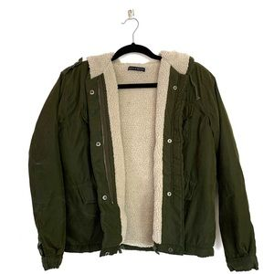 Brandy Melville fleece jacket olive green